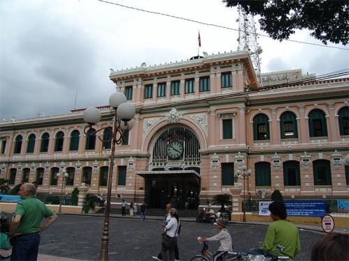 trucage, gare, Saïgon, photo, photoshop